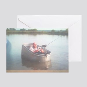 Hillybilly bass boat 2 Greeting Card
