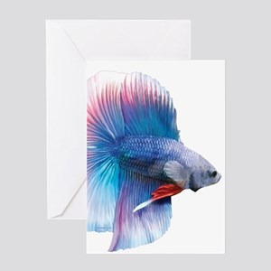 Double Tail Betta Greeting Cards