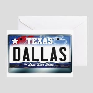 Texas License Plate [DALLAS] Greeting Card