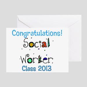 social worker grad congrats Greeting Card