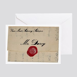 Mr Darcy Love Letter Greeting Card