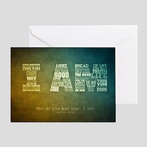 I AM Word Art Greeting Card