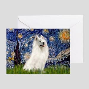 Starry / Samoyed Greeting Card