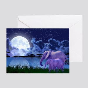 Contemplative Elephants Greeting Card