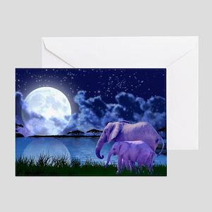 Contemplative Elephants Greeting Card