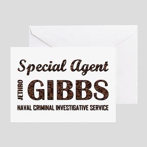 SPEC AGENT GIBBS Greeting Card