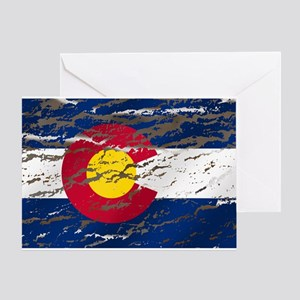 Colorado Vintage Flag Greeting Cards