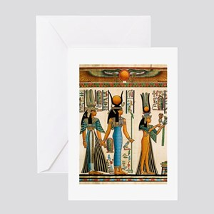 Ancient Egyptian Wall Tapestry Greeting Card