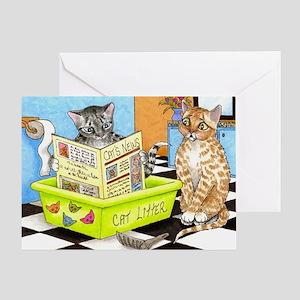 Cat 464 Greeting Card