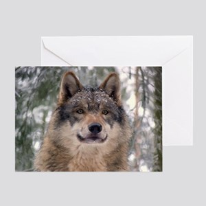 Wolf In Woods Card Greeting Cards