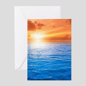 Ocean Sunset Greeting Cards