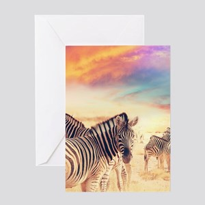 Beautiful Zebras Greeting Cards