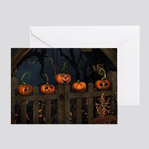 All the pretty pumpkins in a row Greeting Card