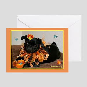 Pumpkin Ruff Daisy Greeting Card