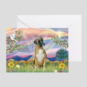 Cloud Angel & Boxer Greeting Card