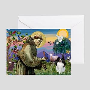 St Francis' Japanese Chin Greeting Card