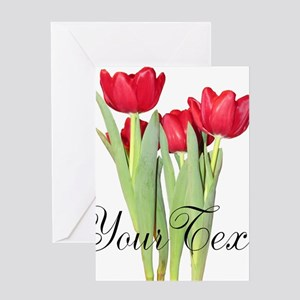 Personalizable Tulips Greeting Cards