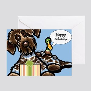 Funny Pointing Griffon Birthday Greeting Card