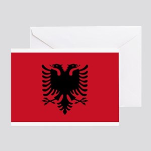 Albanian Flag Greeting Card