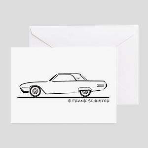 1961 Ford Thunderbird Hard Top Greeting Card