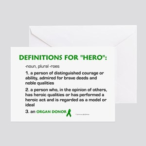 HERO Definitions (Organ Donor) Greeting Card