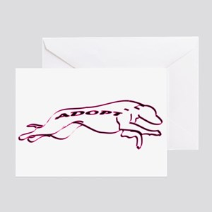 Adopt a Greyhound (Neon) Greeting Card
