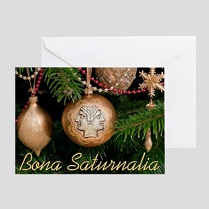 Saturnalia Tree Card Greeting Cards