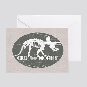 Old and Horny... Greeting Card