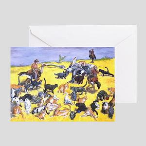 Herding Cats Greeting Card