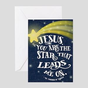 Jesus Star Greeting Cards