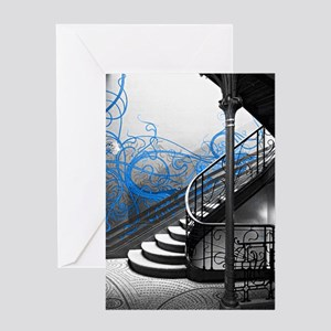 Gothic Staircase Greeting Cards