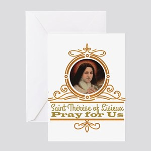 St. Therese Pray for Us Greeting Cards