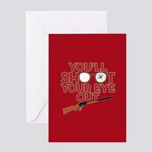 A Christmas Story Shoot Your Eye Out Greeting Card