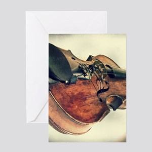 classic vintage violin Greeting Cards