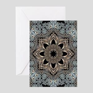 floral mandala hipster bohemian Greeting Cards