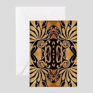 flames safari tribal pattern Greeting Cards