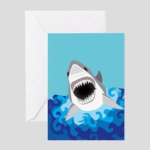 Shark Attack Greeting Cards