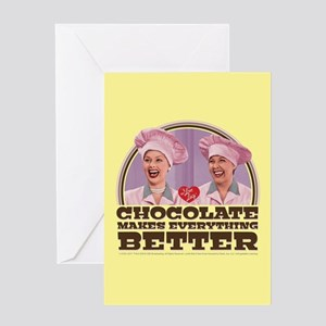 I Love Lucy: Chocolate Makes Everyth Greeting Card