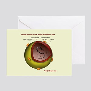 Putative HCV particle structure Greeting Card