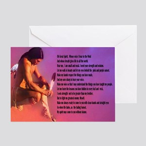 Great Spirit Prayer Card Greeting Cards