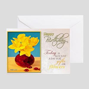 Golden daffodils birthday card Greeting Cards