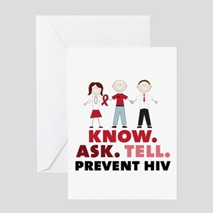 Know.Ask.Tell.Prevent HIV Greeting Cards