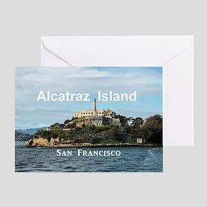 SanFrancisco_18.8x12.6_AlcatrazIslan Greeting Card