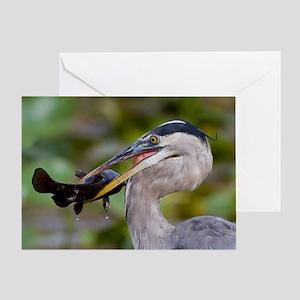Blue Catfish Greeting Card