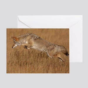 Coyote Flying Greeting Card