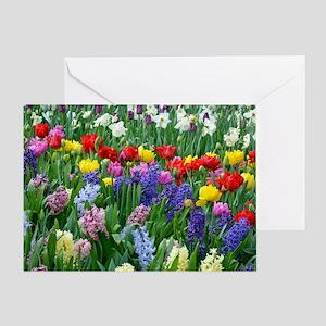 Spring garden flowers Greeting Card
