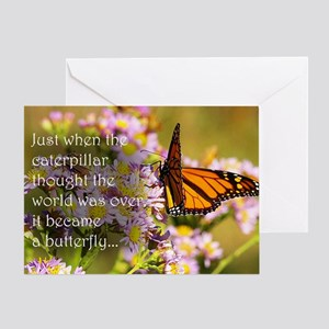 Butterfly Proverb Greeting Card