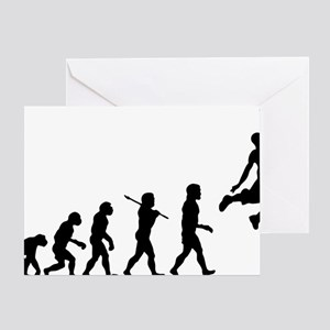 Basketball Evolution Jump Greeting Card