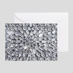 Radial Rhinestone Bling Greeting Card