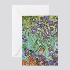 Van Gogh Irises Greeting Cards